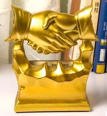辦公桌擺件創意商務名片盒老板辦公室桌面裝飾品名片座時尚名片架【極有家】