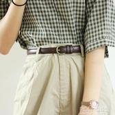 復古學生小皮帶簡約百搭韓國襯衫裝飾細腰帶配裙chic女士牛仔褲帶 polygirl