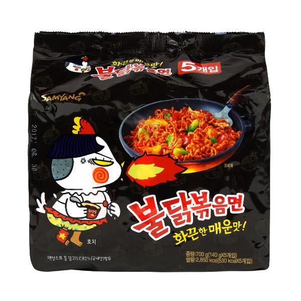 韓國 SAMYANG 三養火辣雞肉風味鐵板炒麵 140g╳5包/袋 團購/泡麵/沖泡 ◆86小舖◆