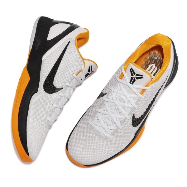 Nike 籃球鞋 Kobe VI Protro 6 Del Sol 白 黑 黃 男鞋 6代 【ACS】 CW2190-100
