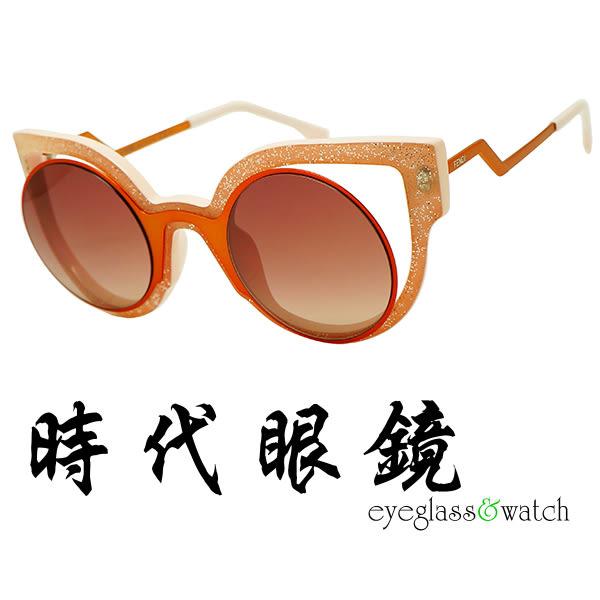 【台南 時代眼鏡 FENDI】墨鏡太陽眼鏡 FF0137 NUG4C 52mm 義大利時尚流行品牌 公司貨開發票