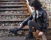 馬丁靴春夏真皮馬丁靴男女鞋短筒高幫靴日系復古鞋情侶鞋單鞋 DF99免運