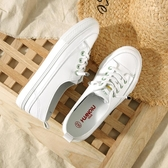 環球夏季女鞋薄款透氣小白鞋女2020年春季新款一腳蹬淺口懶人白鞋 居享優品