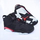 【現貨】NIKE Air Jordan 6 Retro PS Infrared 黑 紅 紅外線 老屁股 童鞋 中童鞋 喬丹 運動 籃球 384666-060