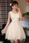 (45 Design)  客製化 定製款7天到貨 結婚小禮服 短款雙肩演出服 新娘敬酒服 伴娘裙 晚禮服