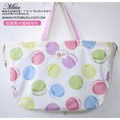 甜美馬卡龍側背手提包兩用包~Mita ~MI 0828 米色0829 粉紅0830 粉紫