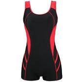 2021新款泳衣女士专业运动连体平角保守显瘦遮肚潜水泡温泉游泳装 茱莉亞