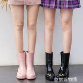 防水鞋 雨鞋 MAIYU 向日葵雨靴女成人韓國時尚雨鞋可愛中筒水鞋夏季防滑水靴潮  歐萊爾藝術館