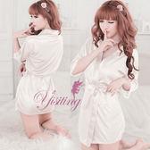 情趣睡衣 熱銷商品 情趣用品 經典の浪漫!柔緞和服睡袍﹝白﹞超商貨到付款