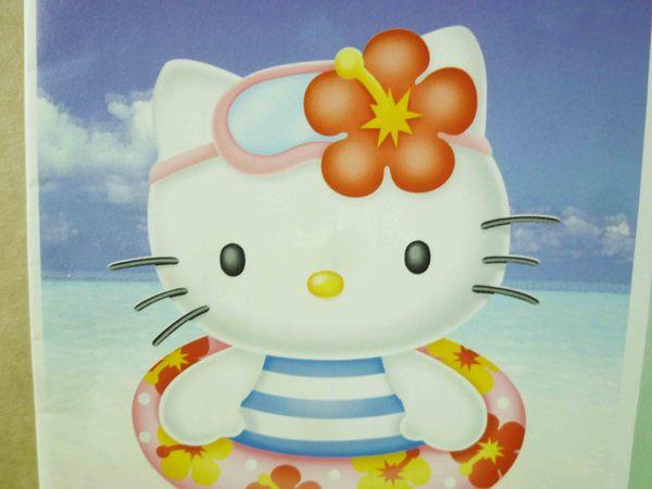 【震撼精品百貨】Hello Kitty 凱蒂貓~信箋組-泳圈藍