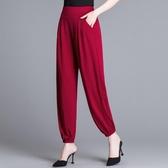 夏裝高腰燈籠褲女寬鬆褲2020新款垂感九分褲顯瘦蘿卜褲休閒闊腿褲 韓國時尚週