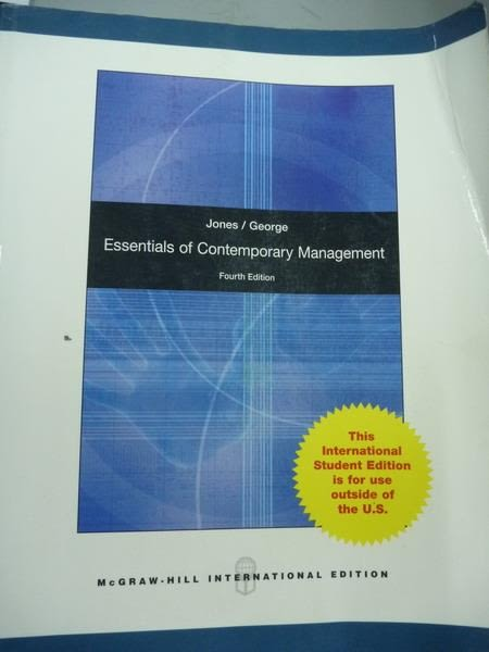 【書寶二手書T5/大學商學_QNL】Essentials of Contemporary Management_Jone
