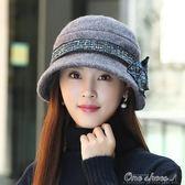 帽子女冬韓版潮青年時尚百搭禮帽貝雷帽冬天女士毛呢盆帽漁夫帽父親節促銷