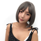 韓系全頂假髮 奶奶灰短髮 灰髮 灰色 魔...