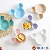 創意陶瓷餐具米奇碗 兒童餐盤分格卡通寶寶盤子菜盤【淘夢屋】