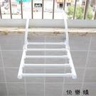 【快樂購】家用曬鞋架窗台陽台折疊伸縮毛巾...