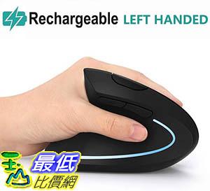 [9美國直購] 左手滑鼠 Left Handed Mouse, Lefty Ergonomic Wireless Mouse - Acedada Rechargeable 2.4G