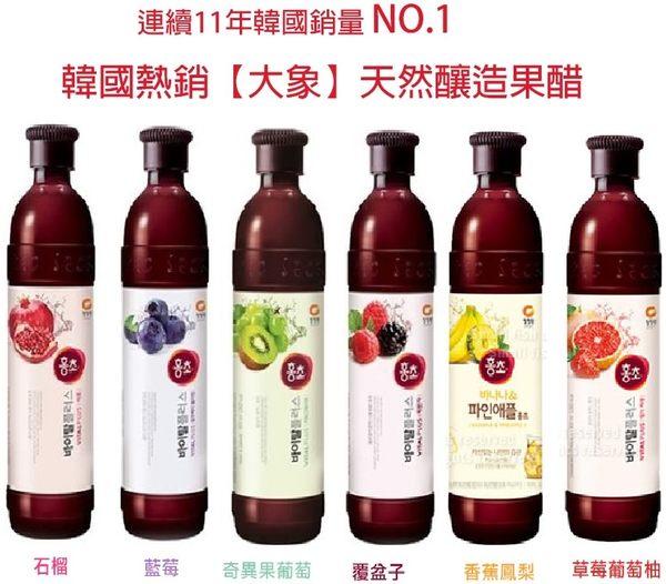 (清淨園)韓國大象紅醋系列-石榴/ 藍莓/ 覆盆子/香蕉鳳梨紅醋/ 奇異果葡萄 (500ml/罐)  四季健康飲品