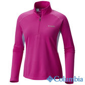 Columbia 女 鈦防曬15涼感快排半開襟上衣-紫色 UAR19810PL 【GO WILD】