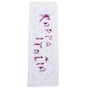 KAPPA義大利休閒慢跑運動緹花毛巾 莓紅 白色T052-T323-1