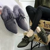 低筒雪靴-時尚獨特保暖蝴蝶結女高跟靴子3色73kg33【巴黎精品】