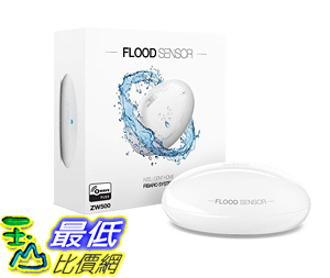 [107美國直購] FIBARO 水感測器 Flood Sensor Newest Z-Wave Plus Water Leak  Freeze Detector FGFS-101 ZW5