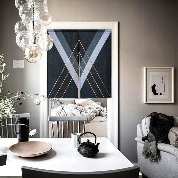 可愛時尚棉麻門簾E286 廚房半簾 咖啡簾 窗幔簾 穿杆簾 風水簾 (85寬*90cm高)