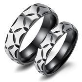 日韓潮流飾品 個性復古花紋鈦鋼情侶戒指 百搭時尚配飾 全館滿千89折