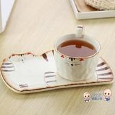 貓爪杯 日式萌物貓咪陶瓷手工咖啡杯帶碟杯子女可愛少女貓爪杯趣味馬克杯 3色