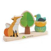 【美國Tender Leaf Toys】動物朋友疊疊樂(手眼協調疊疊樂拼圖)
