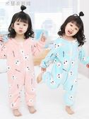 嬰兒連體睡衣寶寶冬加厚1-3歲法蘭絨2女童秋冬季睡袋童珊瑚絨爬服   米蘭潮鞋館