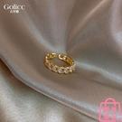 戒指女滿鉆麻花開口時尚個性日系感食指指環【匯美優品】