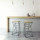 美式簡約現代吧台桌椅鐵藝咖啡酒吧凳創意吧...