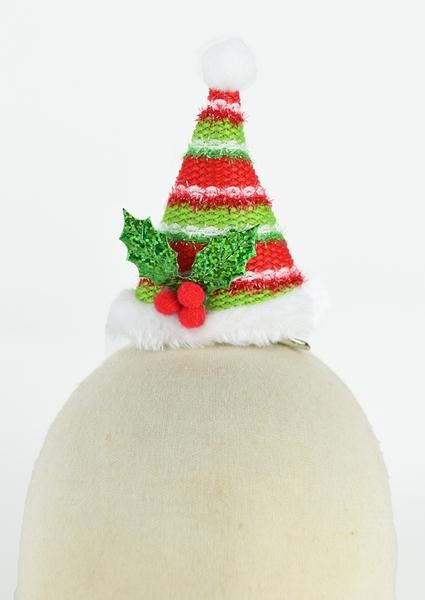 節慶王【X412400】立體聖誕帽造型夾,聖誕節/派對用品/舞會道具/cosplay/角色扮演