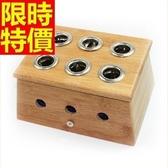 艾草針灸盒 艾灸器具-六孔竹製艾灸盒祛寒溫灸盒多功能65j22【時尚巴黎】