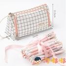 大容量帆布筆袋簡約女可愛多功能文具盒筆盒鉛筆袋日系【淘嘟嘟】