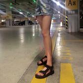 涼鞋女夏季平底韓版休閒沙灘原宿百搭男女情侶越南大碼潮 『水晶鞋坊』