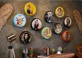 居家掛飾復古創意工業風牆上裝飾品啤酒蓋鐵皮畫掛 晴天時尚館