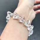『晶鑽水晶』天然白水晶元寶手鍊 寬約13.5mm 避邪擋煞 正能量 招財 水晶手鍊 男女都可配戴