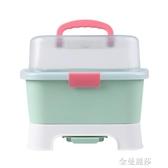 小哈倫嬰兒奶瓶收納箱盒放寶寶干燥帶蓋防塵餐具用品小號瀝水架 金曼麗莎