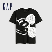 Gap男童 Gap x Disney 迪士尼系列純棉短袖T恤 856652-黑色