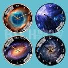 【35CM】網紅北歐鐘錶客廳臥室超靜音星空太空銀河家用掛鐘