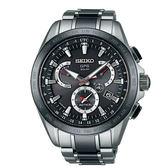 SEIKO ASTRON GPS鈦金屬太陽能衛星定位計時腕錶-黑/45mm(8X53-0AB0D/SSE041J1)