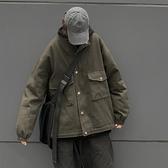 新款冬季韓版ins原宿風復古工裝外套寬鬆加厚棉服棉衣男 『洛小仙女鞋』