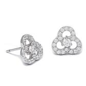 耳環 925純銀鑲鑽-耀眼迷人生日情人節禮物女飾品73dm228【時尚巴黎】