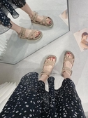 涼鞋女夏季平底鞋2020年新款學生百搭厚底ins潮一字帶羅馬仙女風名品匯