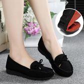 春季老北京布鞋女鞋平跟平底單鞋休閒工作鞋孕婦媽媽鞋豆豆鞋子女