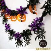 萬聖節派對佈置裝飾-錫箔紫黑蜘蛛拉條+亮橘南瓜拉條拉花(兩入組) ◆86小舖 ◆