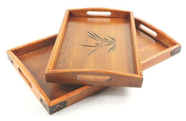 【協貿國際】木質茶盤托盤子(大+小)