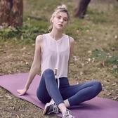 運動罩衫女寬鬆透氣網紗速干T恤顯瘦跑步訓練背心瑜伽上衣健身服